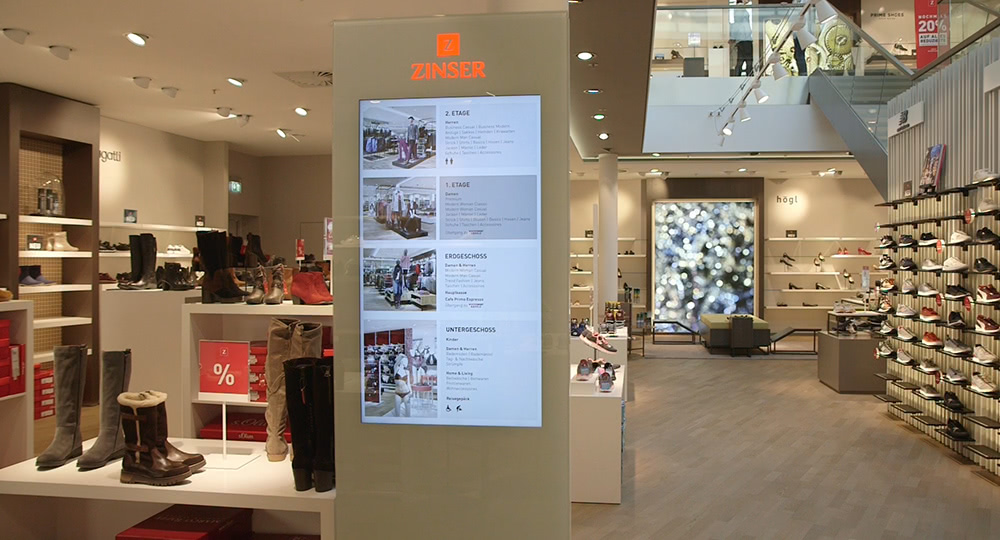 Digital Signage: Modehandel, Fashion